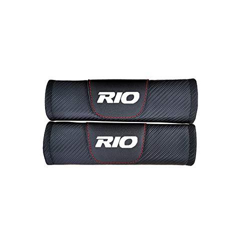 AIPOLE Coche Almohadillas CinturóN De Seguridad para Kia Rio, Coche Seat Belt Padding Shoulder Protectora Pads, CarbóN Fibra, Protectores De Coche Hombro Coche Estilo Accesorios, 2 Piezas