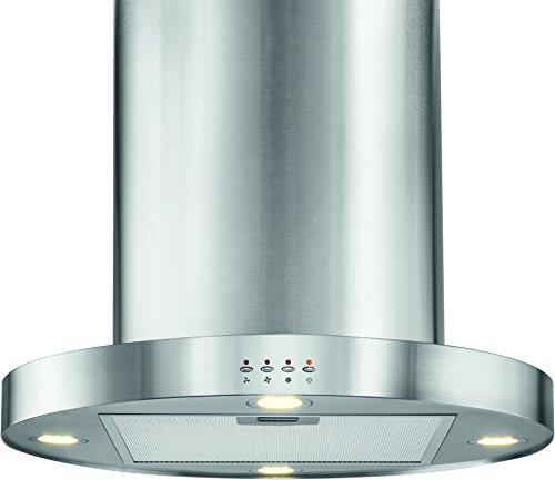 Bomann DU 772 IX Dunstabzugshaube / Inselhaube / Edelstahl / 3 Leistungsstufen / LED-Beleuchtung