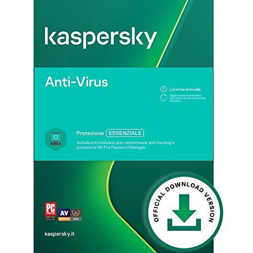 Kaspersky Anti-Virus 2021 | 3 PCs | 1 Anno | PC | Codice d'attivazione via email