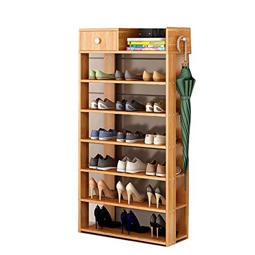 JIADUOBAO Zapatero de 7 capas de almacenamiento simple para el hogar, gabinete de entrada, espacio extra grande con cajones, función de almacenamiento fuerte
