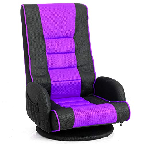 Homall Gaming Office High Back Computer PU Leather Desk PC Racing Executive Ergonomic Adjustable Swivel Task Chair with Headrest and Lumbar Support, Purple