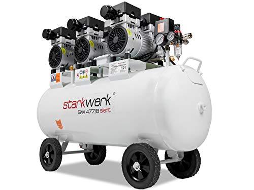 2250 Watt Leistung !69 dB! ölfrei 100 L Kessel 8 Bar Flüsterkompressor Druckluftkompressor Kompressor Silent Compressor Starkwerk SW 477/8