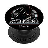 Marvel Avengers Logo in Neon Lights PopSockets PopGrip - Support et Grip pour Smartphone/Tablette avec un Top Interchangeable