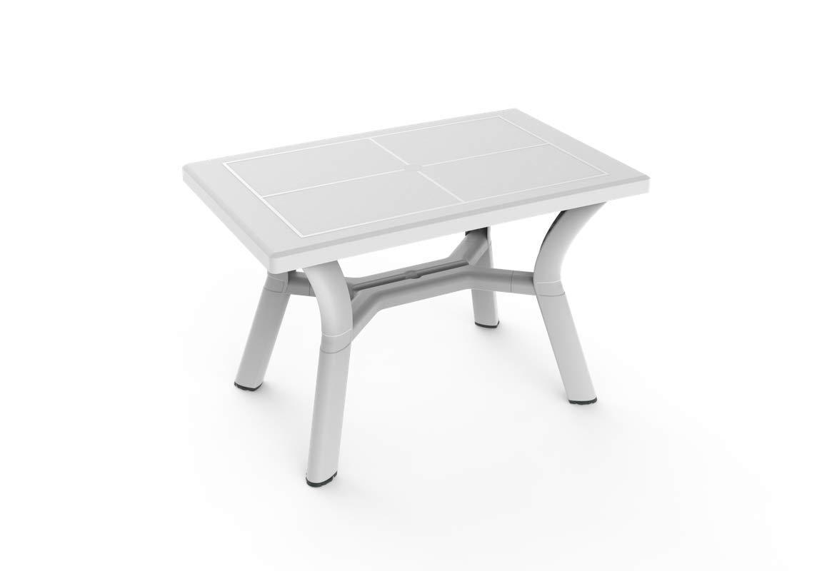 resol Mesa de jardín Exterior Rectangular Dalia 115x72 - Color Blanco: Amazon.es: Jardín