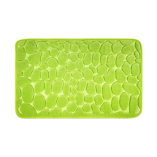 WohnDirect Tappeto da Bagno con Memory Foam • Tappetino Antiscivolo • Lavabile e ad Asciugatura Rapida • Ideale Come Tappetino da Doccia • Tappeto per Bagno 50 x 80 cm • Colore: Verde