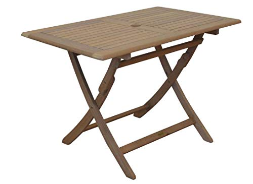 Proloisirs Table rectangulaire Pliante Look Teck 110 x 70 x 74 cm
