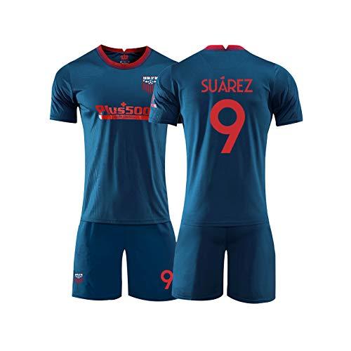 LIUJING Größe (160-2XL) - Suarez Atletico Madrid Trikot Nr 9 Fußballkleidung männlich Sporttraining Jersey Anzug 1-M