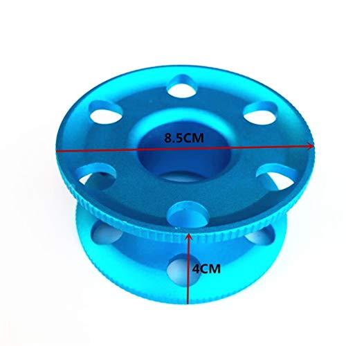 fried Kompakte Fingerspule aus Aluminiumlegierung, zum Tauchen, Spule, Führungsschnur, Blau