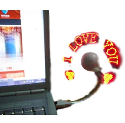 Shree Shraddha Led Programmable Message Fan W/Custom Drawing - USB Powered (Red Led) (RED)