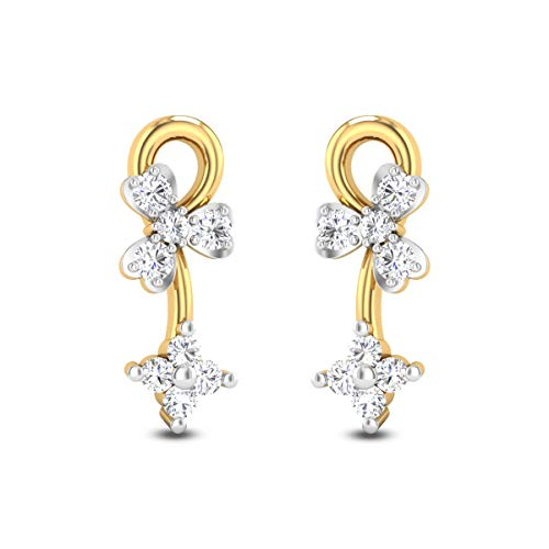 0.30 Carats White Diamond Stud Earrings Solid 14k Yellow Gold Certified Diamond Earrings For Women Anniversary Wedding Gift For Her