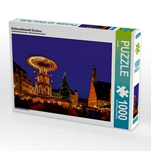 CALVENDO Puzzle Weihnachtsmarkt Zwickau 1000 Teile Lege-Größe 64 x 48 cm Foto-Puzzle Bild von Thomas Polske