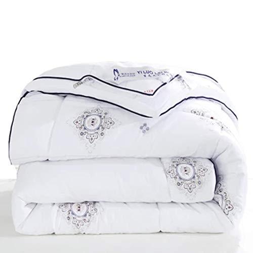 Xianw Luxus Daunendecke, Hypoallergen Daunenfüllung, 100% Baumwolle - King,A,200X230cm(79X91inch)