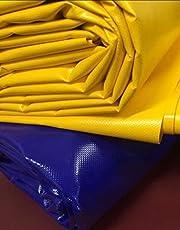 (3,2 m breed) vrachtwagenzeil/pvc-zeil 600 g/m2 voor paardentraining, longierhulpen reserveonderdelen, schuimbalken, gassen, blauw en geel Lijm 1 liter