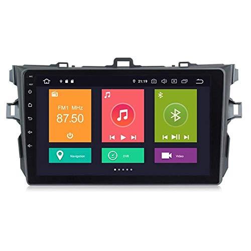 WY-CAR Android 8.1 9 Pulgadas De Radio De Automóvil Estéreo MP5 Player Navigator para Toyota Corolla 2007-2013, FM/Bluetooth/GPS/Controles De Volantes/Enlace De Espejo/Vista Posterior Cámara