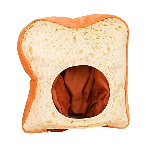 Harilla Cute Toast Hat Beanie Cosplay Disfraz de Halloween Plush Cap Accesorios de fotografa Accesorios de Etapa de Rendimiento Bandas de Cabeza