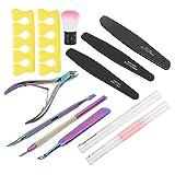 Juego de herramientas de manicura duradero, kit de herramientas para cutículas exfoliantes para hombres, mujeres, salón de uñas, belleza, uso doméstico