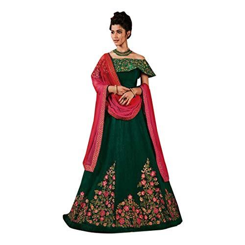 Green Designer Wedding Bridal Lehenga Choli Ghagra Girl Skirt Top Rock Kleid mit Dupatta Frauen traditionelle Hochzeit indische Frau festlich...