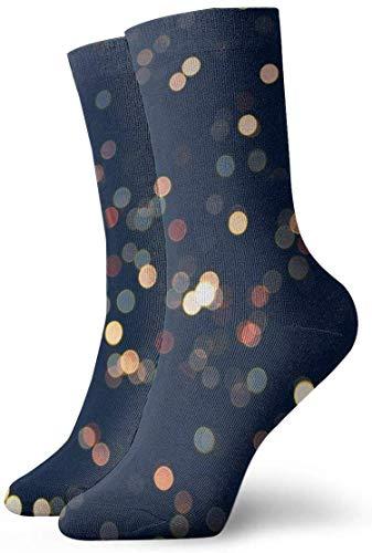 Kevin-Shop Calcetines de compresión Antideslizantes con aspersión Calcetines Deportivos acogedores de 11.8 Pulgadas para Hombres, Mujeres y niños