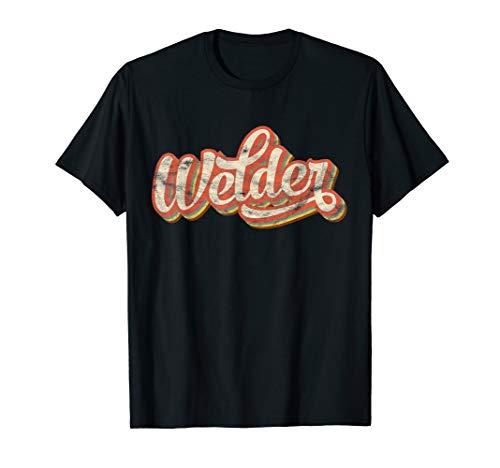 Mens Vintage Welder Gift Funny Welding Costume Cool Weld Worker T-Shirt