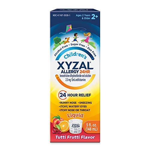 Xyzal Children's Oral Solution, 24-Hour Allergy Relief for Kids, Original Version, Tutti Frutti, 5 Fl Oz