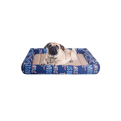 Eileen Ford Hundebetten für große Hunde Welpenbett Kühlung Hundematte für Sommer Hundehütte Hundehütte Haustierbetten Hundematte Flauschiges Hundebett -Blue-S