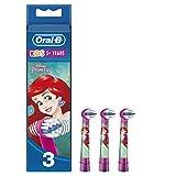 Oral-B Kids - Cabezales de Recambios, Apto para Niños Mayores de 3 Años, 1 Pack de 3 unidades, Modelos surtidos