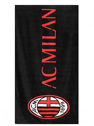 Milan A.C Telo Mare Ufficiale in Spugna - Asciugamano Originale in Spugna 100% Cotone Uomo e Bambino - Misura Grande 90X170