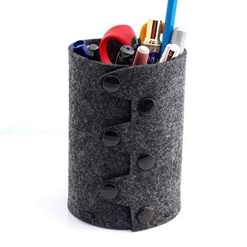 Writers Pens Sew It Yourself フェルトペンホルダー 高さ4.8インチ x 直径 3.2インチ チャコールグレー 自宅やオフィスのデスクオーガナイザー DIY鉛筆収納
