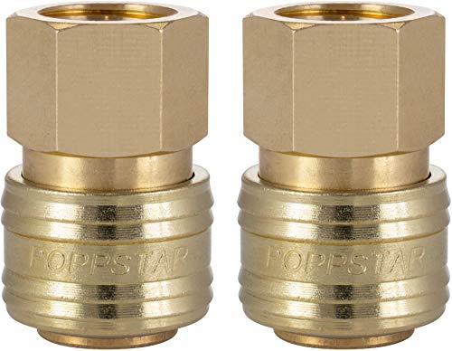 Poppstar 2x Schnellkupplung Druckluft NW 7,2 mit 3/8 Zoll Innengewinde für Druckluft-Anschluss