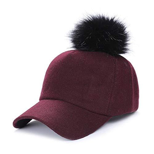 Shaoqingren Leichte Baseballmütze Warme Winte Hutkrempe Männer Baseballmütze Und Frauen Hit Farbe Ente Zunge Hut,Rotwein