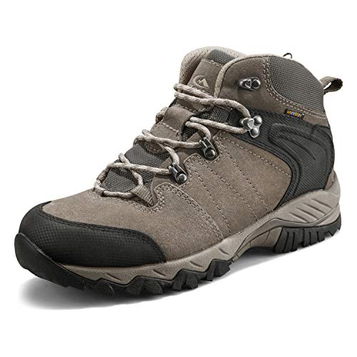 Clorts Men's Mid Hiking Lightweight Outdoor Backpacking Trekking Shoe