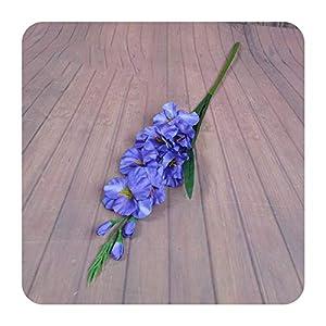 PrettyR 2020 New Realistic 1Pc Artificial Simulation Gladiolus Flower Stem Wedding Bouquet/Posy Table Arrangement Home Decor 8 Colors