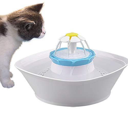 PANXIAO Automático de la Fuente de Agua for Mascotas, Gato del Perro de Animal doméstico eléctrico 2.3L Fuente de Agua Potable de ratón Cuenco Dispensador de Agua Tazón con...
