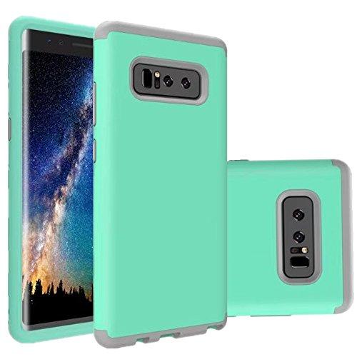 Nokea Funda rígida de silicona para Samsung Galaxy Note 8, 3 en 1, a prueba de golpes, resistente a los golpes, de alta resistencia, de tres capas