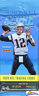 2020 Score NFL Football AWESOME Factory Sealed JUMBO FAT PACK with 40 Cards Including (6) RC & (7) PARALLEL/INSERTS! Look for Tom Brady Tribute & RC & AUTOS of Joe Burrow,Tua Tagovailo & More! WOWZZER from Wowzzer