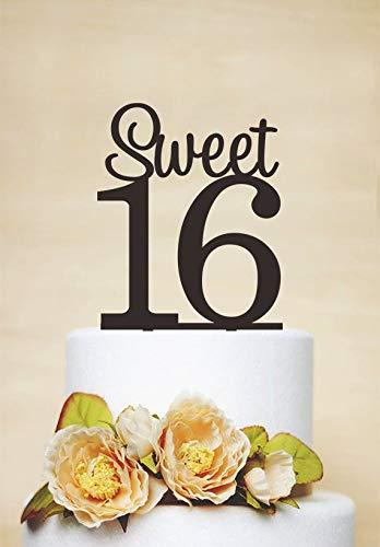 Birthday Cake Topper, Sweet 16 Cake Topper, Gepersonaliseerde Cake Topper, Anniversary Cake Topper