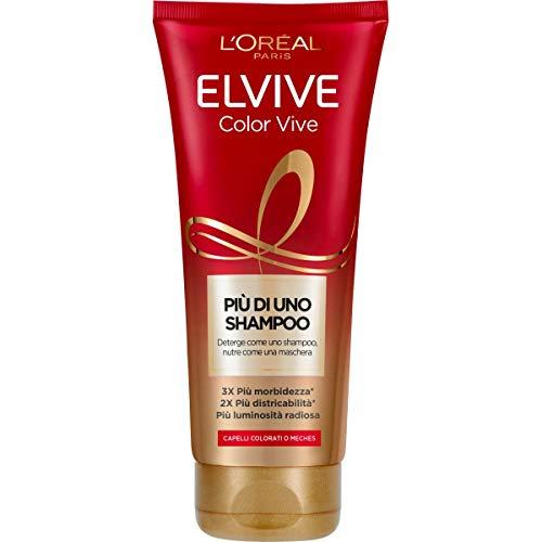 L'Oreal Paris Elvive Más que un champú, Color Vive, champú nutritivo para cabello teñido o con mechas