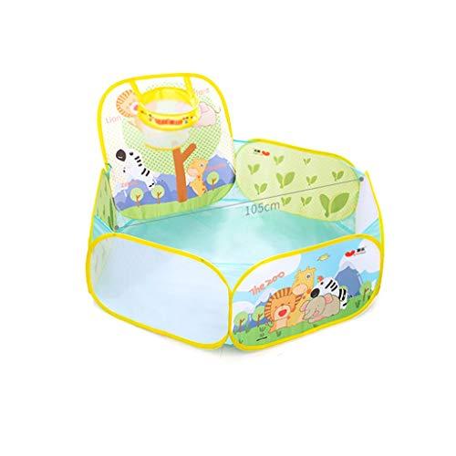 CSQ Rompecabezas de la Bola Piscina for niños, Transpirable Acogedor Play Ball Pool/Regalos for niños de 0-3/52 * 105 * 60 cm/Malla Transpirable Casa de Juegos para niños (Size : 52 * 105 * 60CM)