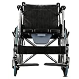 With Brakes Portable Transit Travel Chair, Lightweight Wheelchair, Lightweight And Foldable Frame Removable Foldable Aluminum Footrests Self Attendant-Propelled Wheelchair Can Bear 100kg