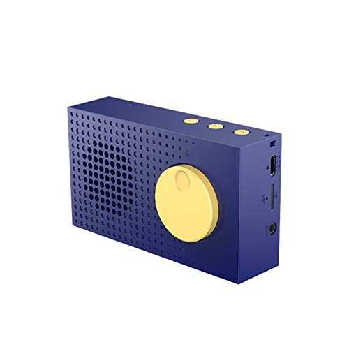 Rhgeiucy Bluetoothスピーカーの無線ミニ大容量Hifiの高音の小さな鋼鉄銃のFMラジオ多機能カードホームサブウーファー屋外の無重力車ユニバーサル クラシックスタイル、ポータブルワイヤレススピーカー (Color : Green)