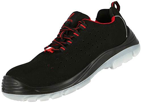 Zapatillas de Trabajo Nitras 7420 Micro Step I - Zapatillas de Seguridad Perforadas S1P para Hombre y Mujer - Zapatillas de Deporte con Puntera y Zapatillas Resistentes al Agua - Negro, Tamaño 50