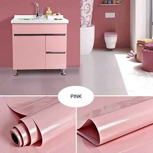 Oude meubels muurstickers koelkast deurframe stickers keukenkast waterdichte film zelfklevend oliebestendig behang, roze, 40 cm x 5 m