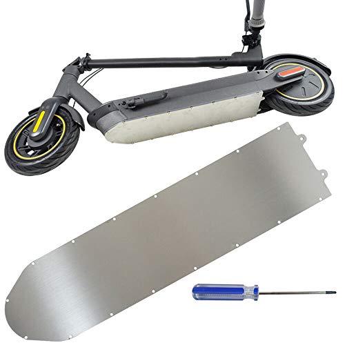 Bayda Scooter EléCtrico Chasis de ProteccióN de Aluminio Placa Protectora de Metal Cubierta Inferior de la BateríA de la Armadura para MAX G30