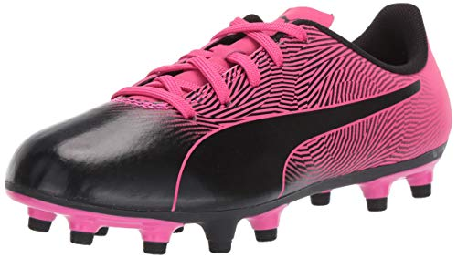 PUMA Kid's Spirit FG Shoe, puma Black-Knockout Pink, 2 M US...