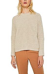 ESPRIT Damen 129Ee1I007 Pullover, Beige (BEIGE 2 271), X-Large (Herstellergröße:XL)