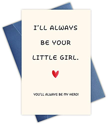 Funny Father's Day Card for Dad From Daughter, Gifts for Dad, Funny Birthday Card for Dad, Love Card for Dad, Little Girl Card, Dad Hero Card