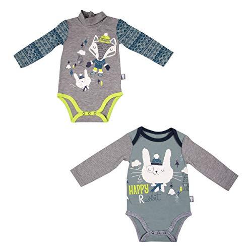 Lot de 2 bodies bébé garçon manches longues Snowfox - Taille - 12 mois (80 cm)