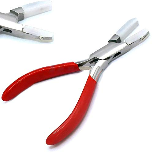 AAProTools Nylon Jaw Chain Nose Pliers 4 1/2' Non-marring Wire Wrapping Jewelry Tool
