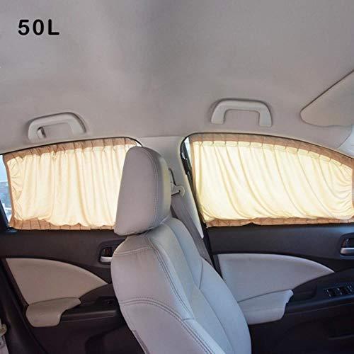 Huien 2 stuks algemene toepassing auto achterruit zonnescherm zonnescherm blind gordijn zwarte doek voor baby en familie, goud