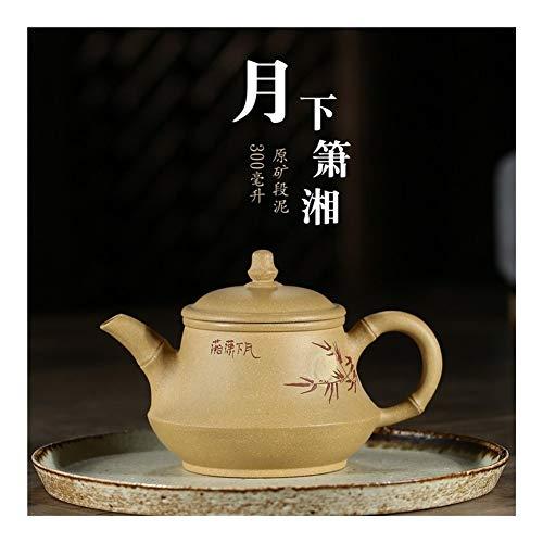 HePing Wu Xiao Xiang 300ml Tee-Set-Designs Teekanne einzigen Topf unter Schlamm Monat (Color : Yellow)